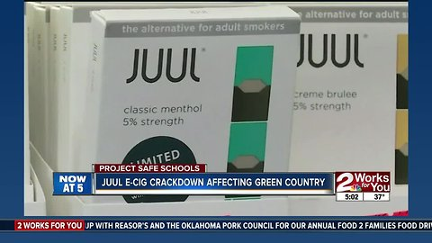 Juul roles out restrictions that take effect in green country