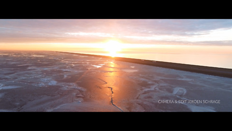 A Spectacular Drone Footage Of  An Ice Phenomenon In The Netherlands