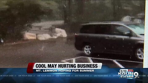 Cool weather hurting business on Mt. Lemmon