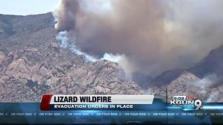 Lizard fire size increases to over 10,000 acres - Video