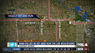 Search for driver after man killed in hit-and-run crash in Lehigh Acres - Video