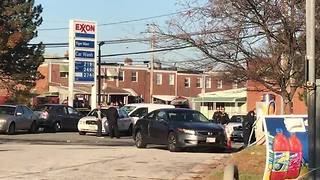 Two people shot at a gas station parking lot in Dundalk - Video