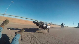 High-speed motorcycle wheelie ends in epic fail - Video