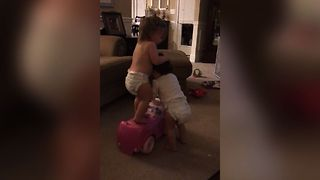 Toy Car Sibling Rivalry - Video