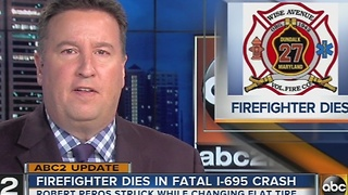 Volunteer firefighter killed in I-695 crash - Video