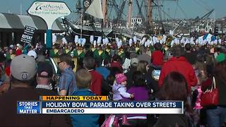 Holiday Bowl Parade takes over Embarcadero streets - Video