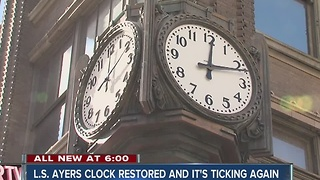 Ayers clock restored in downtown Indy - Video