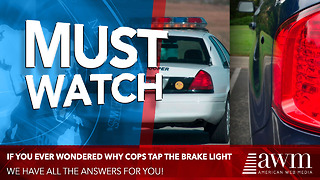 Here's Why You See A Cop Tapping A Brake Light Anytime He Pulls Someone Over - Video