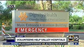 Volunteens helping at Valley hospitals - Video