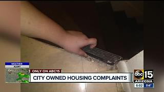 City owns run down apartments, low income residents frustrated with lack of care - Video