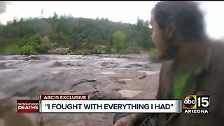 Man caught up in Payson flash flood waters survives after 9 killed - Video