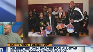 Celebrities join forces for all-star giveback: Thanksgiving edition