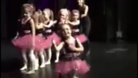 Adorable and Hilarious little girl goes to the extreme to get her shining moment and take a solo bow
