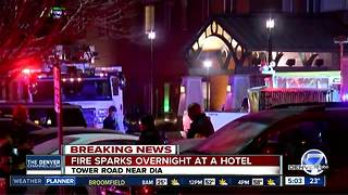 Damaging fire empties Denver hotel; 1 injured - Video