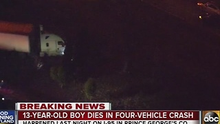 13-year-old killed in I-95 crash