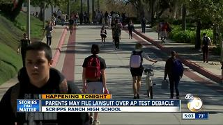 Scripps Ranch parents file lawsuit over AP test debacle - Video