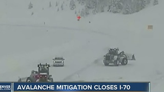 I-70 reopens after avalanche mitigation, crashes - Video