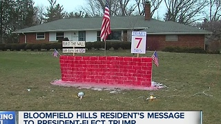Local Donald Trump supporter builds his own version of The Wall - Video