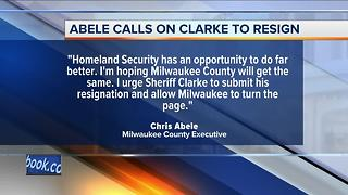Milwaukee County Executive Chris Abele calls on Sheriff David Clarke to resign - Video
