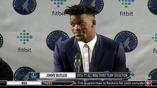 Jimmy Butler Reveals WHEN He Found Out He Got Traded - Video