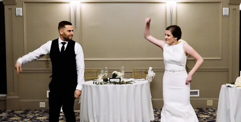 Newlyweds leave guests in awe with this first dance medley
