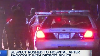 Suspect rushed to hospital after shootout with police - Video
