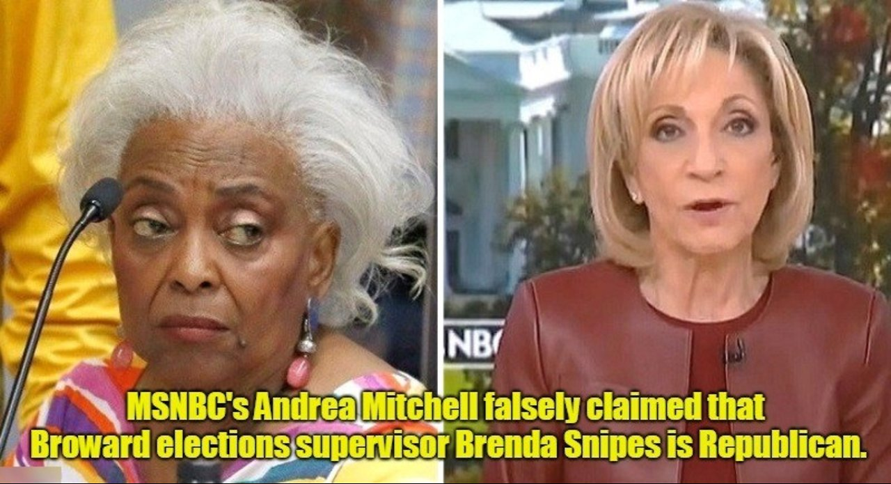 Michael Berry - MSNBC's Andrea Mitchell falsely claims Brenda Snipes is Republican