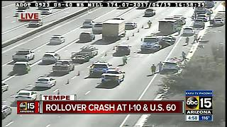 Person killed on I-10 US-60 crash - Video