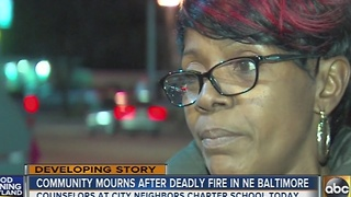 Community mourns after deadly fire in northeast Baltimore - Video