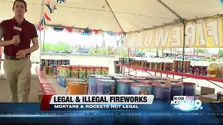 Firework safety, what's legal and what's not - Video