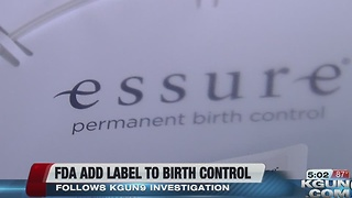 FDA approves labeling changes for Essure