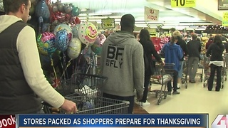 Stores packed as shoppers prepare for Thanksgiving