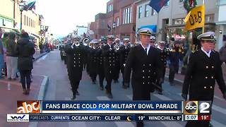 Fans brace cold for Military Bowl Parade - Video