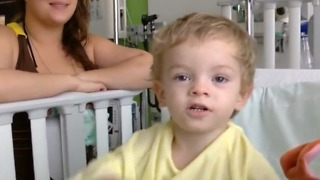 Two-year-old suffering from autoimmune disease