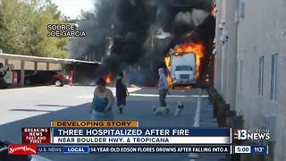 Firefighters responds to vehicle fire at Sportsman's Royal Manor - Video