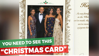 Obama's Holiday Card Has Been Released And Americans Are Outraged With One Issue - Video
