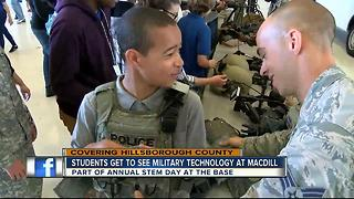 Students get hands-on experience with military tools at MacDill event - Video