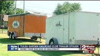 Tulsa Garden Railroad Club has equipment trailer stolen - Video