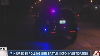 7 injured in rolling gun battle, KCPD investigating - Video