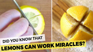 This Trick With Lemons Will Have You Looking 20 Pounds Slimmer! - Video