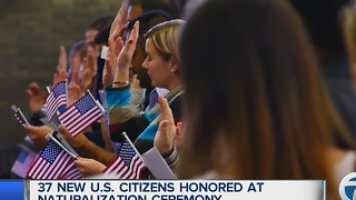 37 new U.S. citizens honored at naturalization ceremony - Video