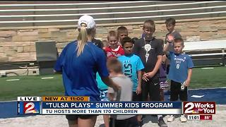 Tulsa University hosts active lifestyle program to kids - Video