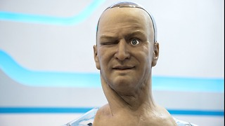 Humanoid Robot Head Thinks And Talks Independently - Video