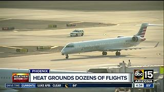 Excessive heat in Phoenix affecting flights to, from Sky Harbor Airport - Video
