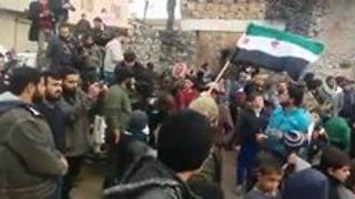 Syrians Protest in Aleppo Province on First Day of Ceasefire