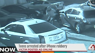 Teens arrested after iPhone robbery - Video
