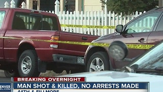 Man shot and killed, no arrests made - Video