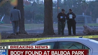 Deceased man's body found in Balboa Park