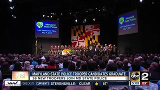 Maryland State Police welcomes 36 new members - Video