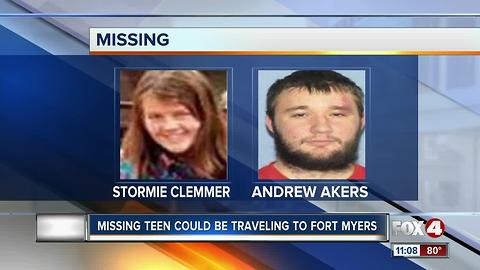 Missing Teen Possibly Traveling to Fort Myers